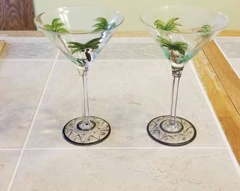 2 Hand Painted Martini Glasses from Home Essentials and Beyond