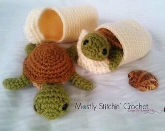 Crochet sea turtle etsy baby sea turtle with shell crochet pattern pdf dt1010fo
