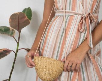 Mini woven straw bag