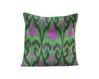 Ikat Pillow, Handmade Ikat Pillow Cover  IP128 (S202), Ikat throw pillows, Designer pillows, Decorative pillows, Accent pillows