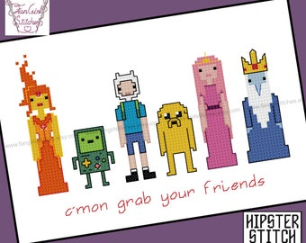 Adventure Time themed Cross Stitch - PDF pattern - INSTANT DOWNLOAD