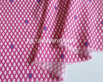 "Korean rayon fabric, fishbone print rayon fabric, half yard by 54"" wide"