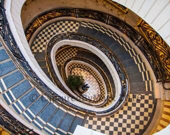 Spiral Staircase at Tivoli Village - Fine Art Photographic Print