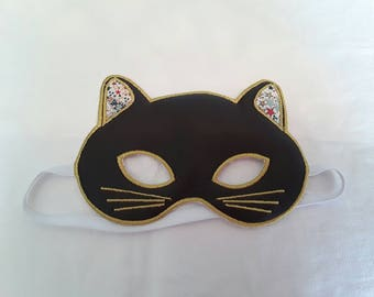 Brown and yellow cat (Wolf) kids mask