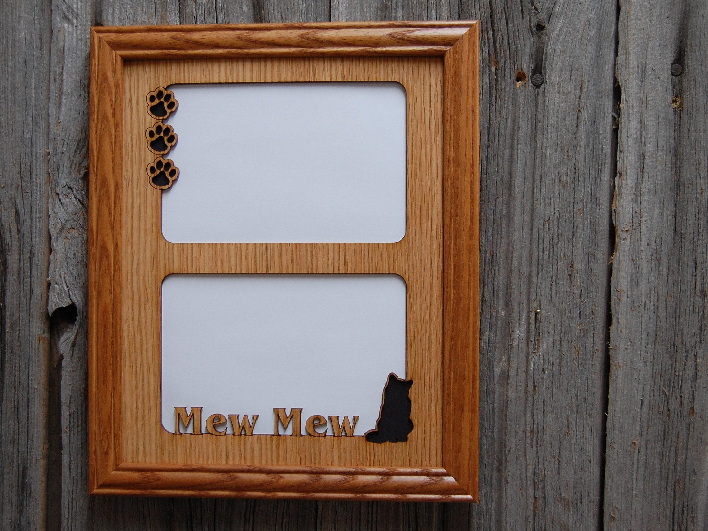 8 x 10 personalisierte Katze namens Bild Rahmen 2 Öffnungen