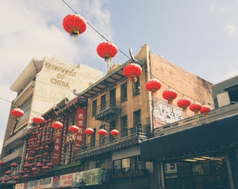 Chinatown, San Francisco Photography, Chinese Lanterns, California Print, Travel Decor, Fine Art Print, Wall Art