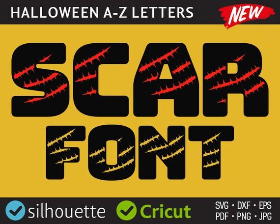 Halloween Font SVG Halloween Letters svg Halloween Alphabet