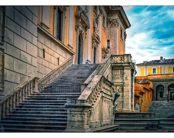 Roman Steps - Art & collectible photo Giclee prints for home decor or gift suggestion for any occasion.