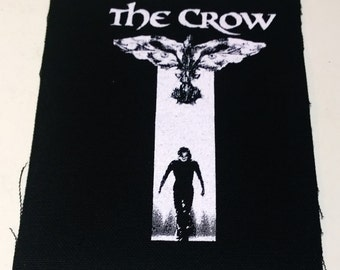 THE CROW patch horror punk goth Free Shipping