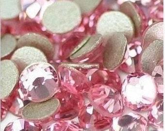 1440pcs Crystal Flat Back Rhinestones Light Rose Light Pink Supreme Quality wholesale loose flatback rhinestone glass crystals beads