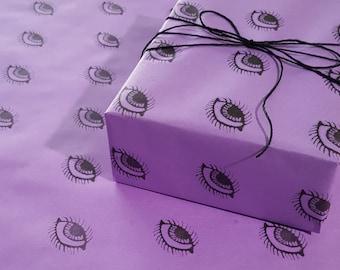 Purple Eyes Goth Gift Wrap