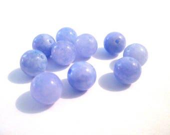 10 pearls Lavender 8mm natural jade (47)