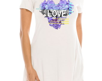 Love Flower Women's Tunic Top