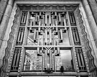 Fort Worth, Texas, Building, Architecture, National Register of Historic Places - Fort Worth US Courthouse Black and White