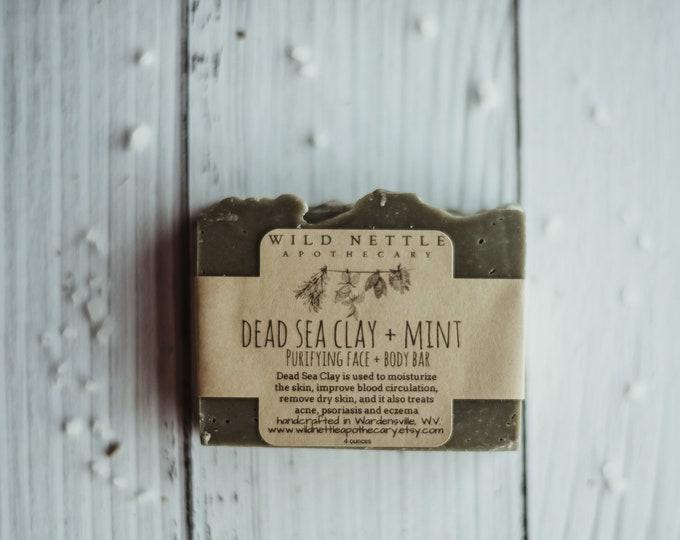 dead sea clay + mint