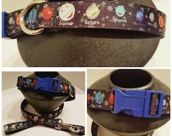 Solar System Dog Collar - Planets Dog Collar - Dog Gift - Astronomy Dog Collar - Gift for Astronomer - Dog Collar