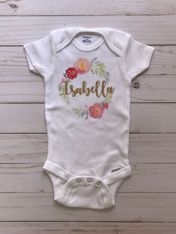 Personalized baby gifts personalized baby onesie negle Image collections
