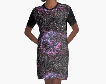 Purple Supernova T-Shirt Dress, 6 Sizes Available!