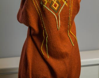Bohemian style embroidered cardigant