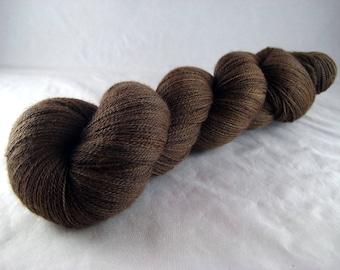 Semisweet - Hand Dyed Superwash Merino Silk Cobweb Lace Yarn