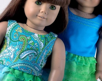 18 Inch Doll Clothes -- Reversible Top and Skirt -- 2 Piece Outfit (1-27)