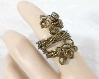 Wire Wrapped Ring Boho Statement Ring Celtic Ring Bronze Adjustable Celtic Jewelry Bohemian Jewelry Gift for Her Mothers Day Gift