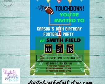 Football Party Invitation Template, Football Birthday pigskin invitation, pigskin invite, editable PDF invitation template, instant download