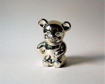 Silver plated Selandia Bear Bank  Japan