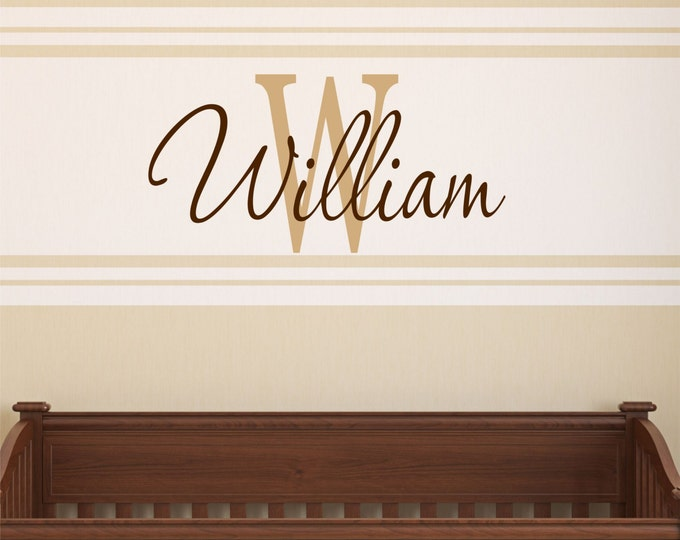 Boys Wall Decals - Name Wall Decal - Personalized Name Wall Decal - Childrens Decor - Baby Name Decal