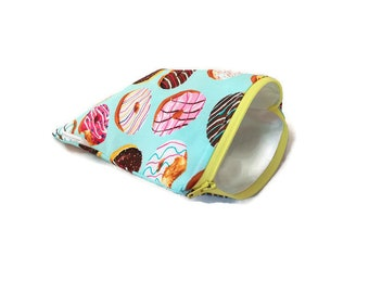 Reusable Snack Bags    Reusable Sandwich Bags    Cute Donut Snack Bag    Zippered Snack Bag    Waterproof Snack Bags    You Choose Size