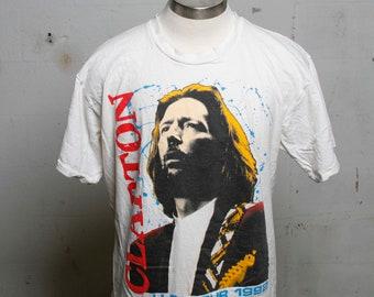Vintage 1992 Eric Clapton U.S. Concert Tour T Shirt Rare! XL