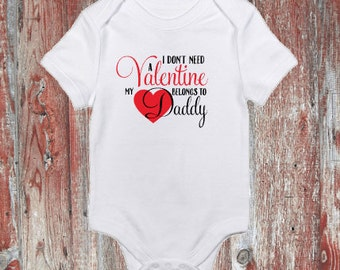 My Heart Belongs to Mommy/Daddy Valentine's Day Infant Bodysuit or Toddler Tshirt