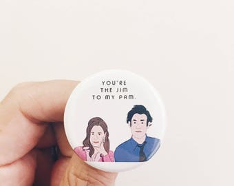 Jim and Pam Button/Magnet