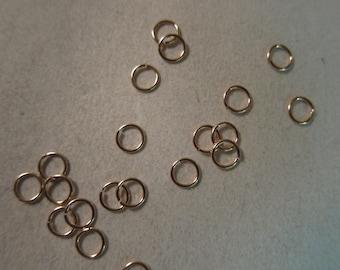 5mm x 22 gauge, 14kt Rose Gold Filled, Open Jump Rings - Available in 4, 6, 10 & 20 Jumpring Pkgs and also in Larger Pkgs