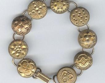 1800s Gilt Button Bracelet