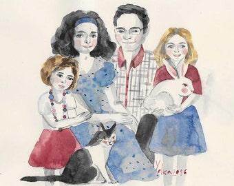 Custom COUPLE Portrait in Watercolor