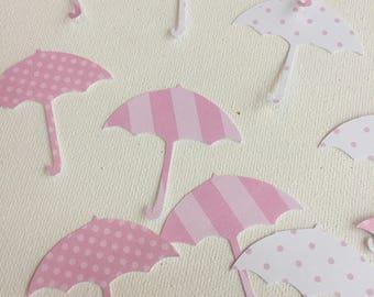 girl baby shower confetti, girl baby shower decor, umbrella baby shower, umbrella shower decor, girl umbrella baby shower, umbrella confetti
