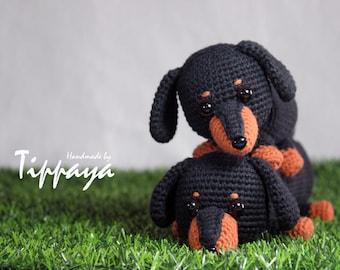 Free Amigurumi Dachshund Pattern : Crochet dachshund bracelet pattern crochet pattern dachshund