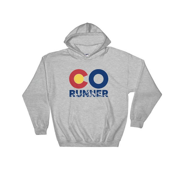 Colorado Runner Hooded Sweatshirt - Unisex - Run Colorado - Heavy Sweatshirt