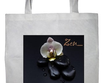 Personalized white tote bag