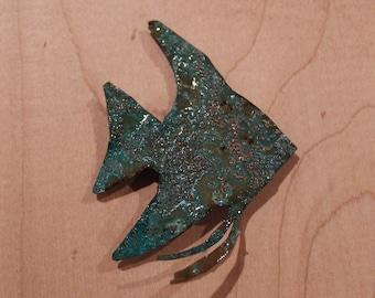 Patina Angelfish Magnet