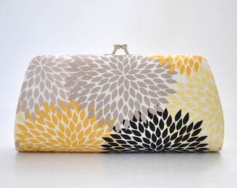 Petals in Gold - Bridesmaid Clutch - Custom made clutch - Wedding clutch - Gift idea - For her