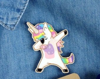 Rainbow unicorn pin Unicorn rainbow gift party Unicorn dance party gift Rainbow unicorn brooch Unicorn for daughter Brooch for friend