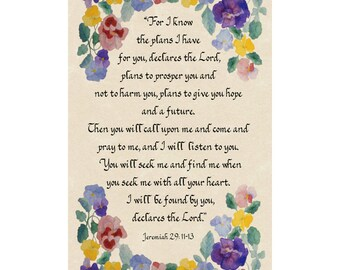 Jeremiah 29 5 x 7 matted print