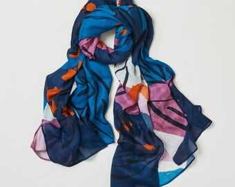 Summer Floral Bamboo Scarf