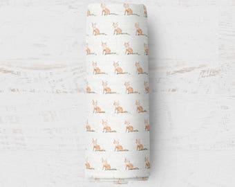 Organic Swaddle Blanket Baby Fox. Fox Organic Blanket. Baby Swaddle. Newborn Swaddle. Gauze Blanket. Fox Blanket.