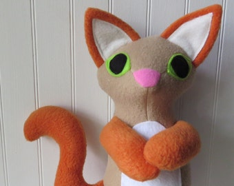 Flame Point Siamese Cat Plush, Cat Doll, Toy Cat