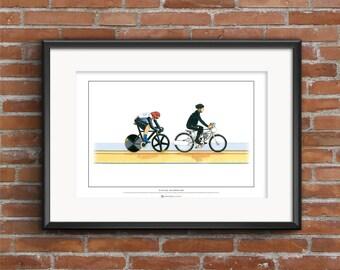 Sir Chris Hoy, Keirin, London 2012 Olympics ART POSTER A2 size
