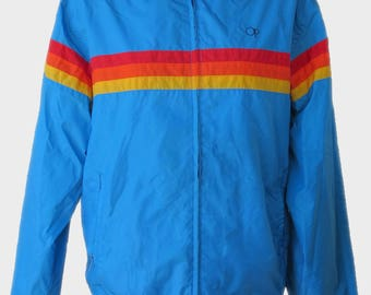 Vintage OP Windbreaker Jacket Activewear Ocean Pacific Brand Size Small