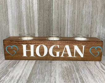 Personalized Wood Candle Holder | Votive | Home Decor | Candle | Housewarming | Birthday | Centerpiece | Gift